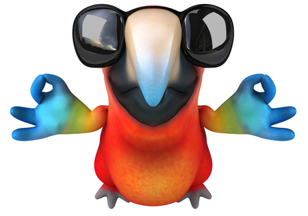 Parrot character with shades Stock Photo