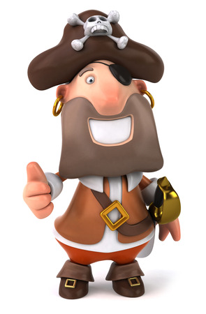 Pirate character showing thumbs up Stock Photo