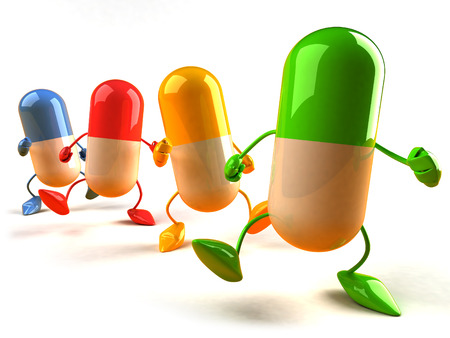 3D colorful capsule characters Stok Fotoğraf