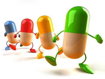 3D colorful capsule characters Reklamní fotografie