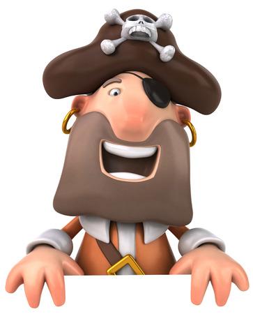 Cartoon pirate laughing