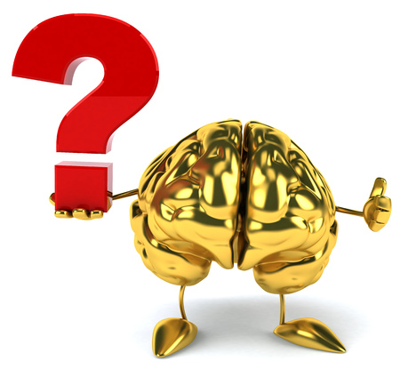 Golden brain Stock Photo