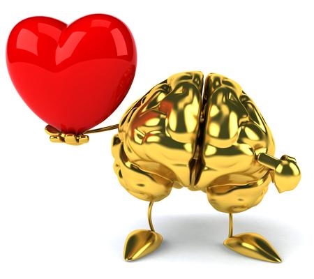 creativeness: Golden brain Stock Photo