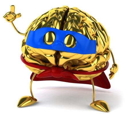 conscious: Golden brain Stock Photo