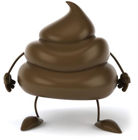 3D poop character standing
