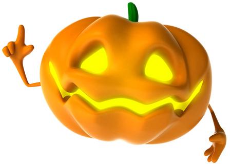 digitally generated image: Cartoon pumpkin character posing