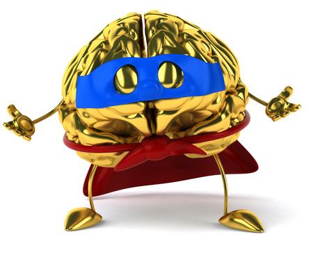 Golden brain Stock Photo