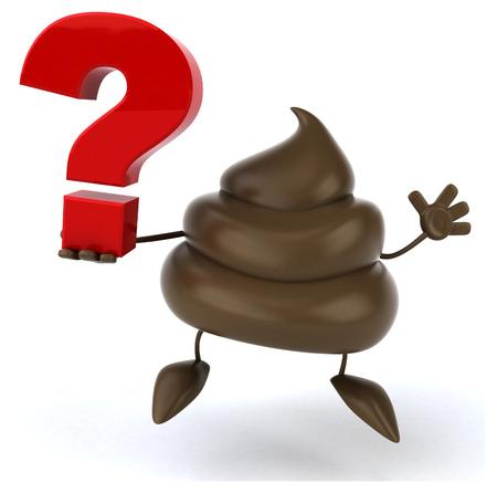 stink: Fun poop Stock Photo