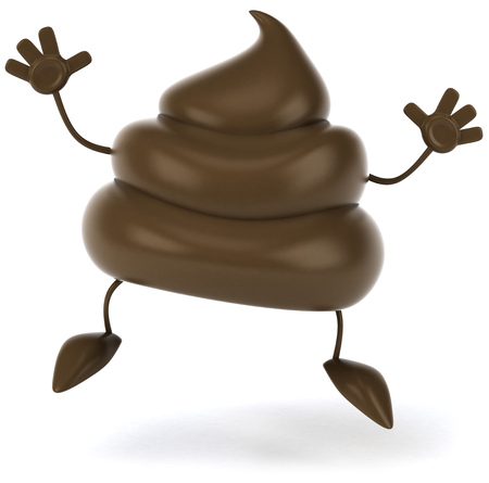 3D poop character posing Stock Photo