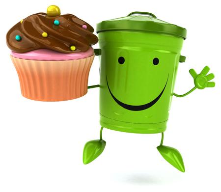 Green trash Stock Photo