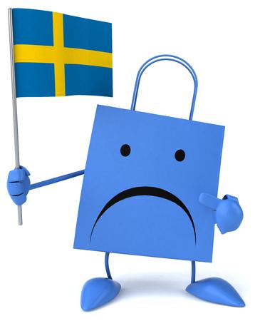 bandera de suecia: Shopping bag