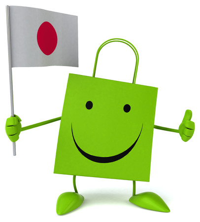 bandera japon: Bolsa de compras