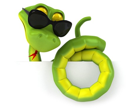 Snake character wearing sunglasses