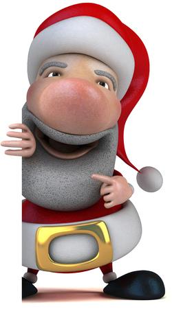 digitally generated image: Santa Claus character Stock Photo