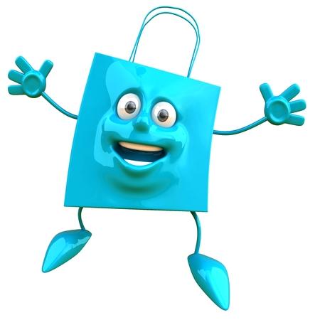Shopping bag character Stock Photo