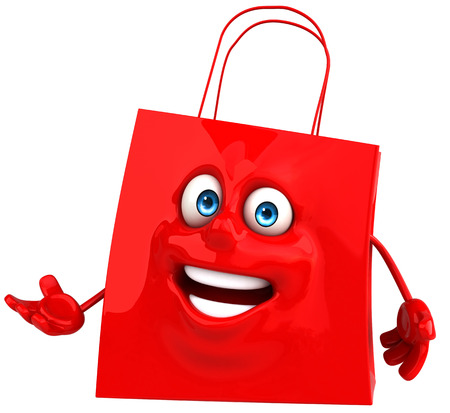 Shopping bag character Stock Photo - 84329266