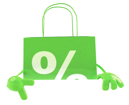 Shopping bag character Stock Photo - 84329402