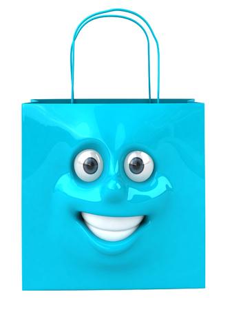 digitally generated image: Shopping bag character Stock Photo