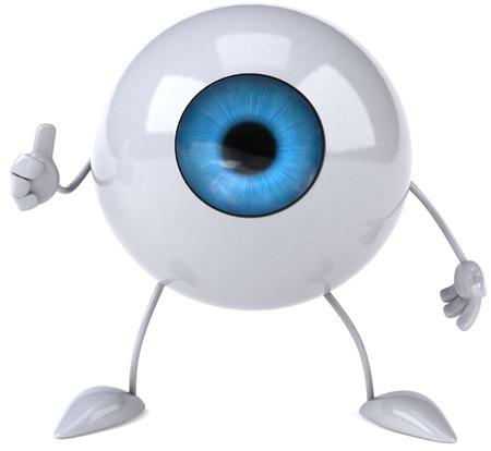 retina: Cartoon eyeball character showing thumbs up