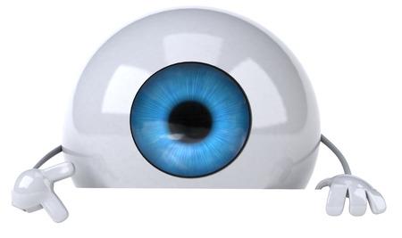 digitally generated image: Cartoon eyeball character