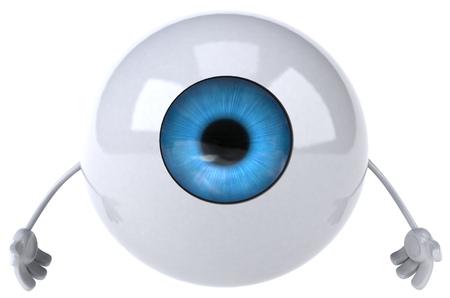 Eyeball karakter Stockfoto