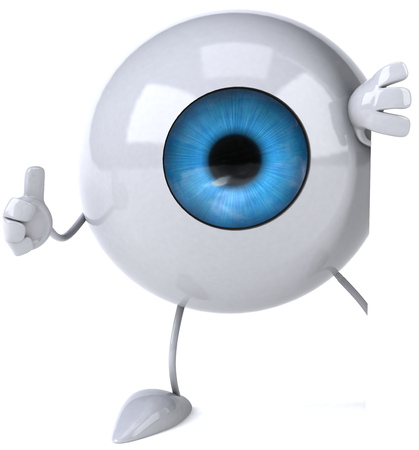Eyeball character showing thumbs up Banco de Imagens