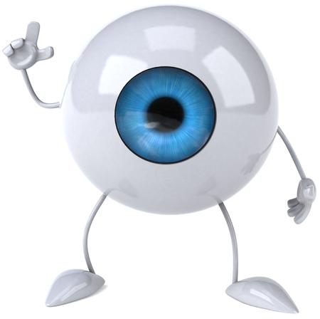 Eyeball character pointing