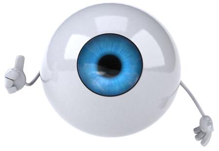 retina: Eyeball character showing thumbs up Stock Photo