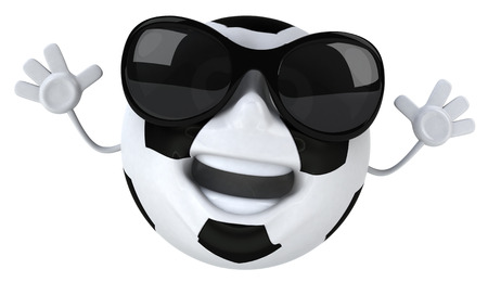 Soccer ball character with shades