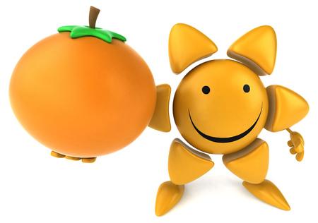 frutas divertidas: sol divertido
