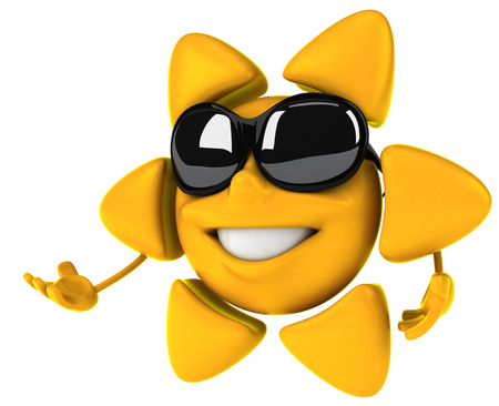 digitally generated image: Sun character with shades