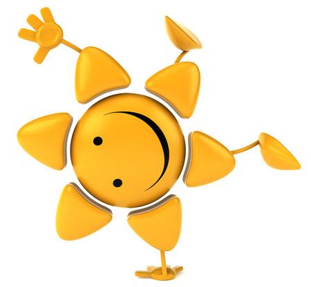 star mascot: Sun Stock Photo