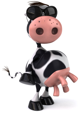 udders: Cow character with shades