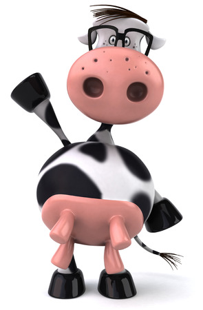 udders: Cow character with spectacles