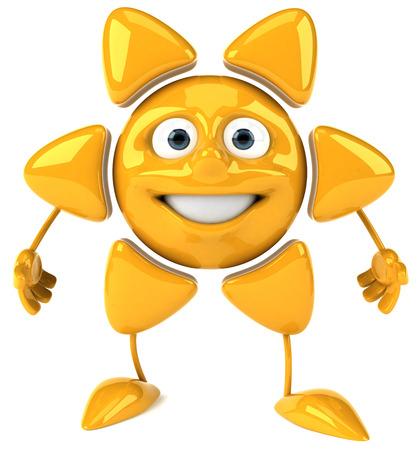 Sun character Stock Photo