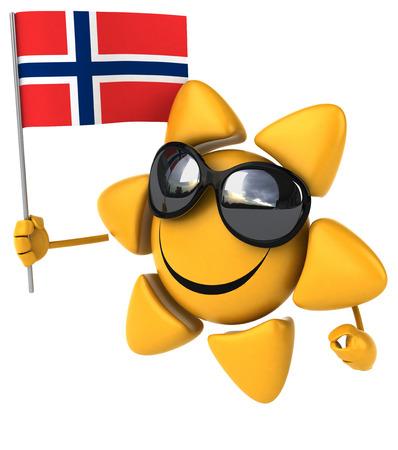 norway flag: Fun sun