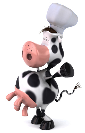 udders: Cow character with chef hat