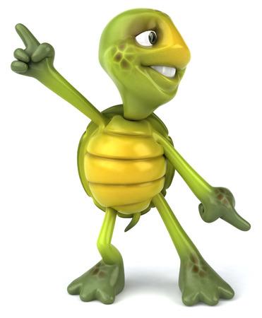 Tortoise character dancing Stock Photo