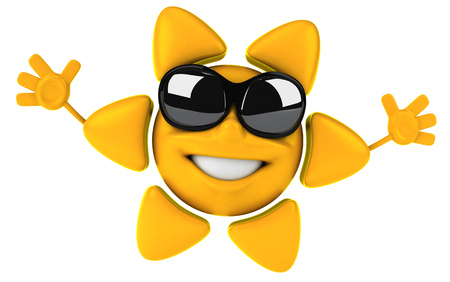 Sun character with shades