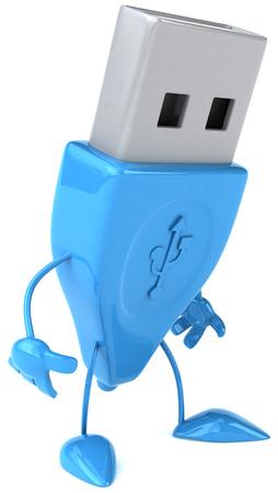 usb memory: Pen drive character Stock Photo
