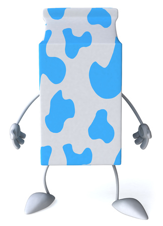 Milk box character