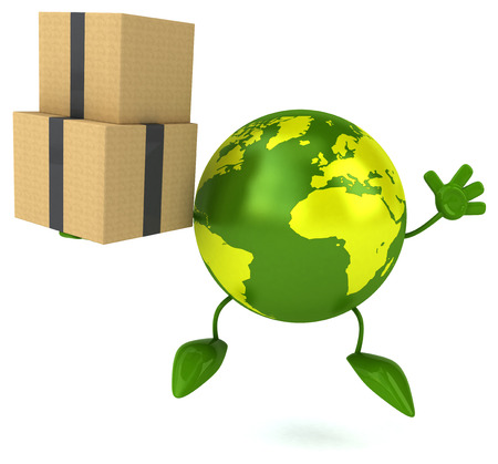 earth moving: Green world Stock Photo