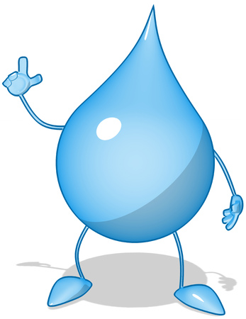 Water droplet character Stock Photo
