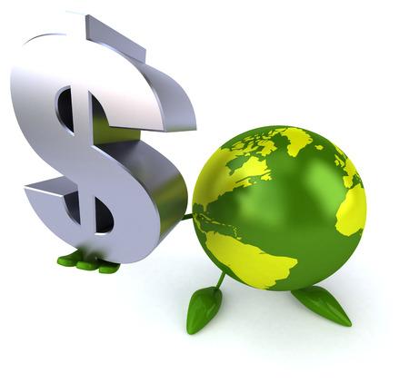 money sphere: Green world Stock Photo