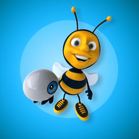 big brother: Fun bee Stock Photo