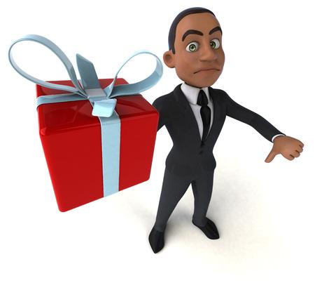 birthday suit: Fun businessman