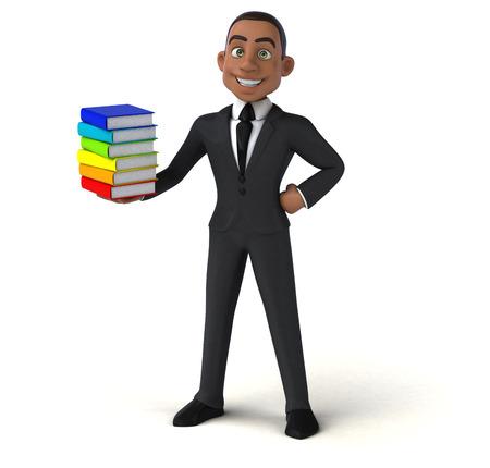 african teacher: Fun businessman