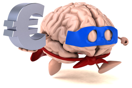 mentality: Brain Stock Photo