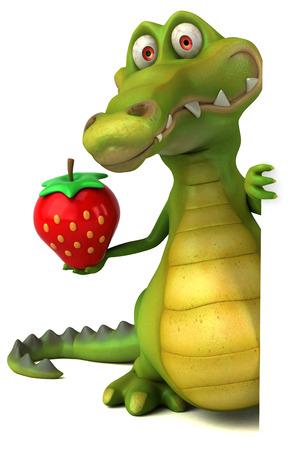 frutas divertidas: Fun crocodile