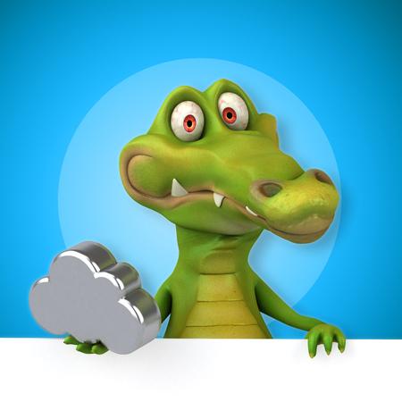 alligator isolated: Fun crocodile